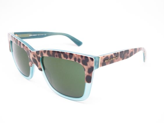 Dolce & Gabbana DG 4262 2971/71 Print Leo on Opal Green Sunglasses | Dolce  gabbana online and Printing