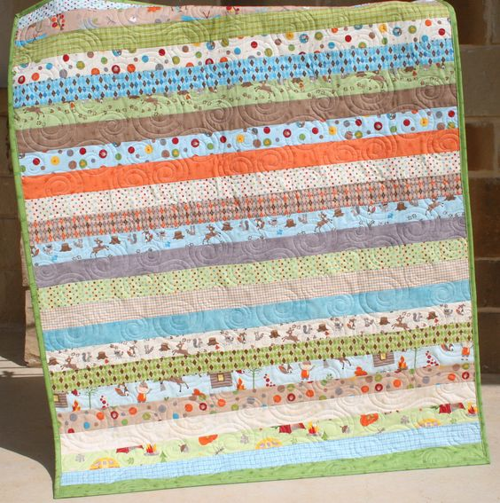 Boy Quilt....is that camping fabric? Love it!