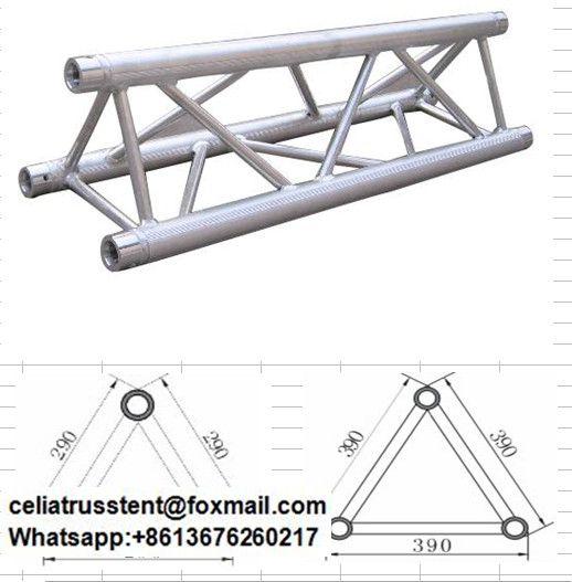 Triangular Truss Spigot Connect Type Steel Frame Construction Directional Signage Stage Set Design