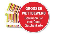 Gewinne mit Coop und ein weing Glück 10 x eine Coop Geschenkarte im Wert von je CHF 50.- http://www.alle-schweizer-wettbewerbe.ch/gewinne-zehn-coop-geschenkkarten/