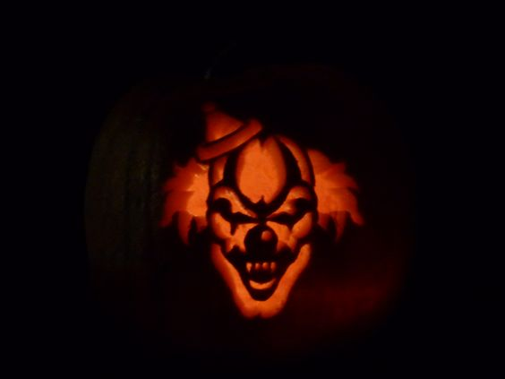 Clowns zombies and creepy clown on pinterest for Clown pumpkin painting