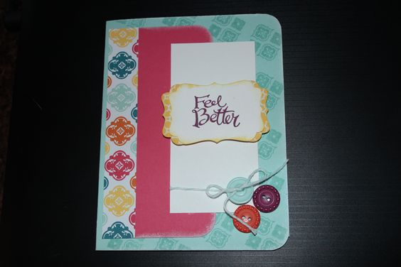 A get well card using new Stampin'Up! products. allthatsamerican.blogspot.com