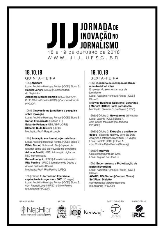 Jornada de Inovação no Jornalismo integra pesquisadores e