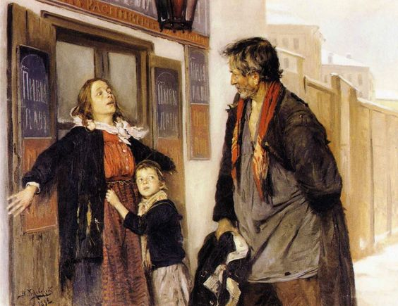 Don't go, Vladimir Makovsky (1891).