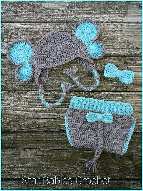 Elephant Ear Flap Hat Crochet Pattern | YouCanMakeThis.com | 640x480