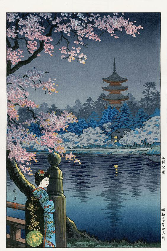 Коитсу японские гравюры на дереве