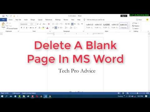 Delete A Blank Page In Ms Word Words Ms Word Blank Page