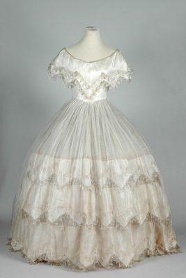 Ball dress, c.1855-60