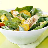 Citrus Chicken Salad - Makes 3 servings at 28 carbs per serving. Good way to use up leftover roast chicken breasts!