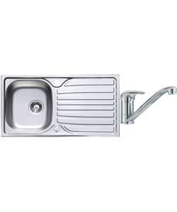 Lumex Kitchen Sink with 1.0 Bowl and Single Lever Tap.