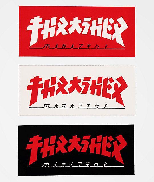 Thrasher Godzilla Logo Sticker Zumiez In 2021 Logo Sticker Thrasher Sticker Design