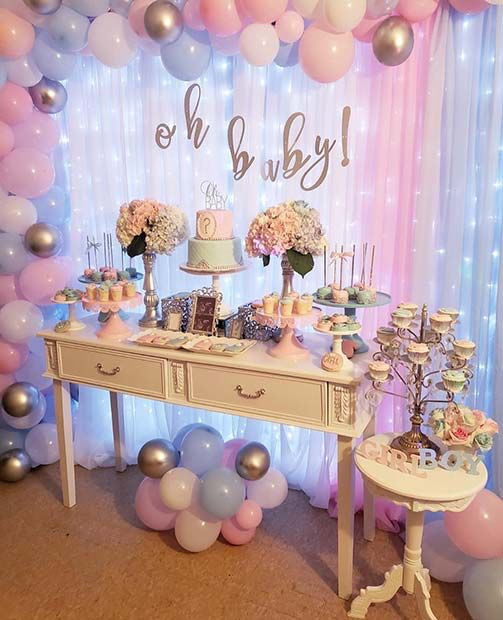 Classic Blue or Pink themed Gender Reveal Party ideas