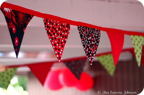 garland for ladybug birthday party