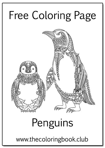 Free Penguin Coloring Page