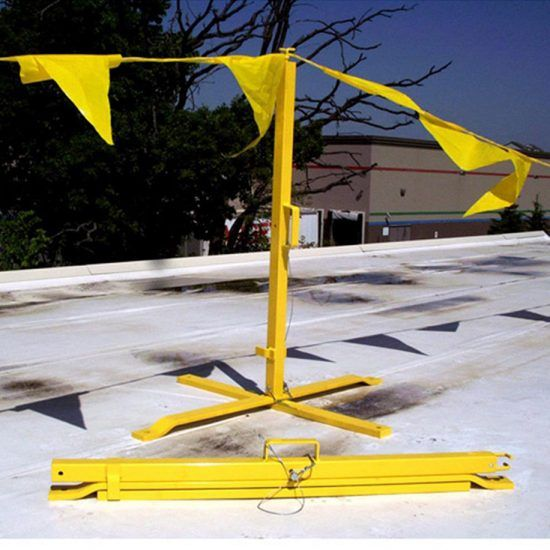 Portable Non Penetrating Warning Lines Corrugated Metal Roof Rooftop Kwik