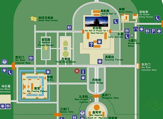 Temple Of Heaven Tourist Map Temple Of Heaven Beijing Subway Map Beijing Subway
