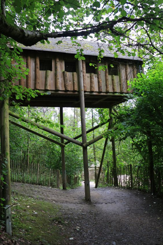 les cabanes perchées / the treehouses playground