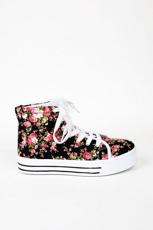 Maniac Floral Sneakers ~ TOBI