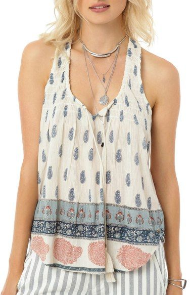 O'Neill 'Rolla' Print Woven Tank available at #Nordstrom