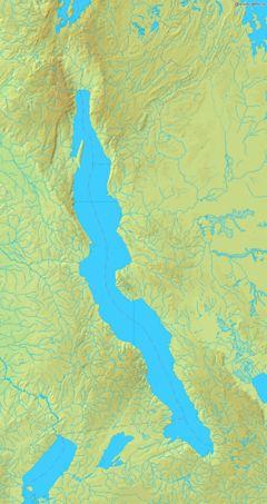 Map of Lake Tanganyika.