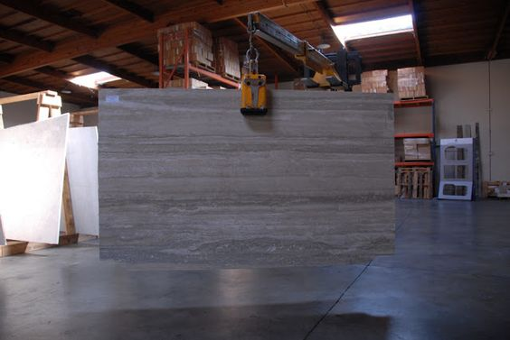 Countertop Replacement Options : Vein Cut Silver Travertine slab. (Countertop replacement option ...