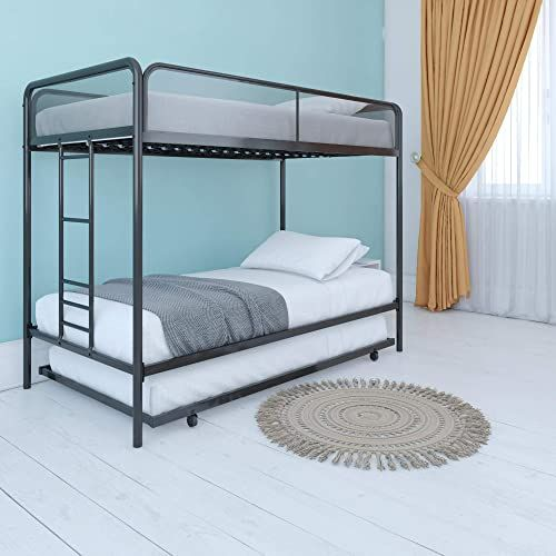 Best Seller Dhp Triple Metal Bunk Bed Frame Black Twin Online In
