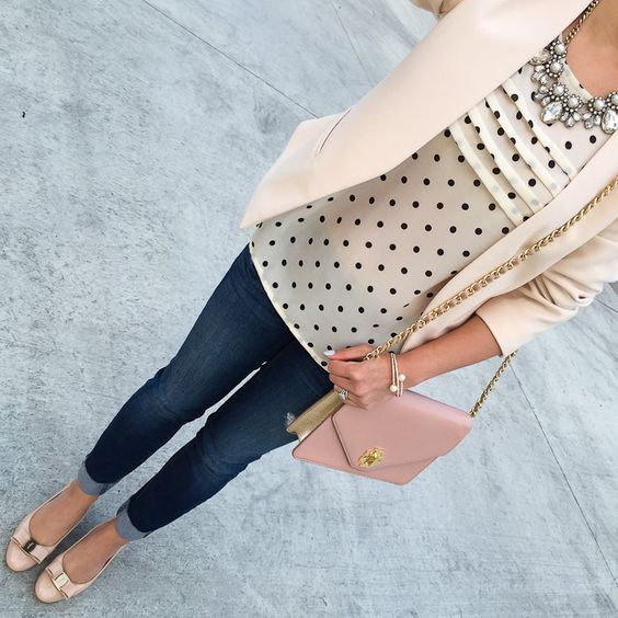 StylishPetite.com | Weekly Outfits and Winner of Ann Taylor Crystal Pearlized Statement Necklace Giveaway