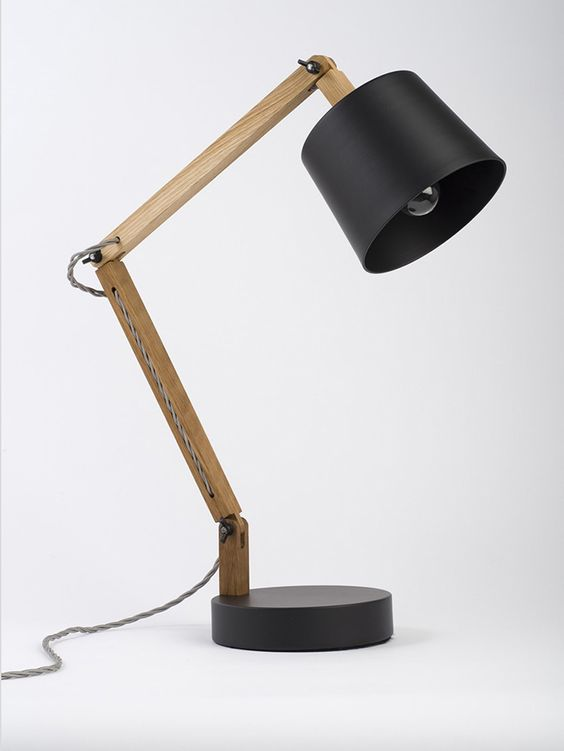 Black: Grey Angle Table Lamp 2.0 Workroom