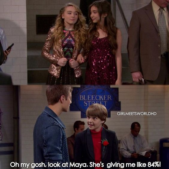 in girl meets world are riley and lucas dating Look at a photo of riley and lucas' first date from the 'girl meets world' season finale.