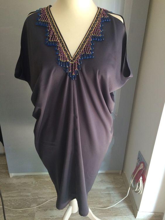 """Kleid ohne Schnitt (""""Two-Rectangle-Dress""""). Borte aus Indien (über Amazon). Tutorial unter http://www.sattlercom.at/2016/05/30/tutorial-sommerkleid-cocktailkleid/"""