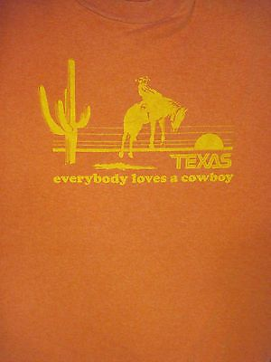 XL red TEXAS t-shirt - EVERYBODY LOVES A COWBOY - by Mr. Chip's | eBay