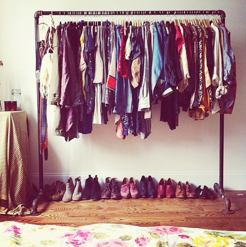 LEITE-COM® • Decoração com araras de roupa!: