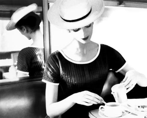 Carmen Having Tea, 1950 by Lillian Bassman