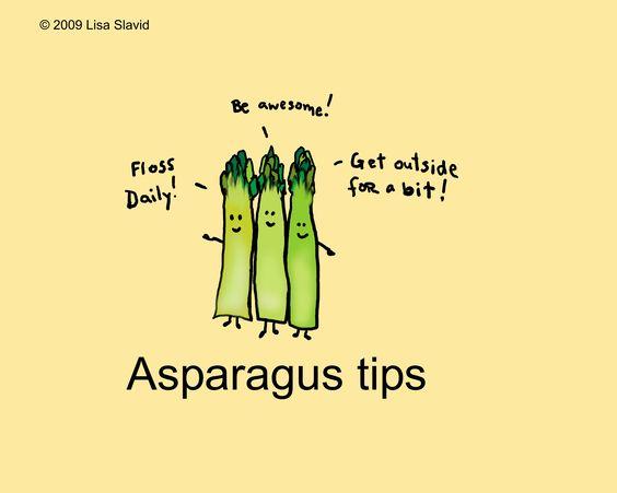 Cartoons, Asparagus, Wise Vegetables, Floss