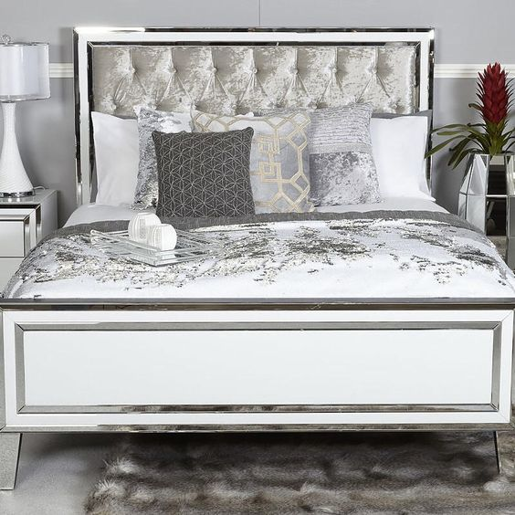 4999 5499 Queen 204cml X 153cm W King 204cm X 183cm X200cm Californian King 214cml X 183cm Mirrored Bedroom Furniture King Size Bed Frame Bedroom Bed Design