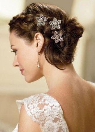 Coiffure mariage cheveux mi long attachés , http//lookvisage.ru/coiffure