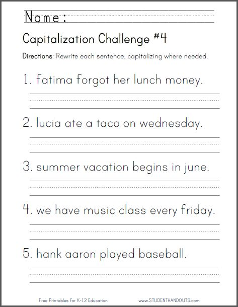 Student Challenges And Worksheets On Pinterest