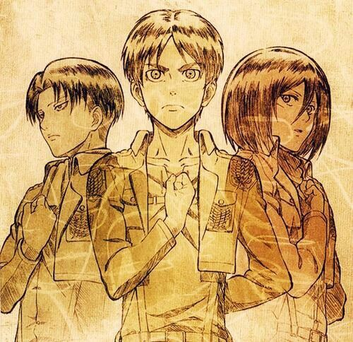 Image result for attack on titan salute