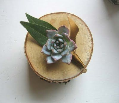 awesome, clean boutonniere