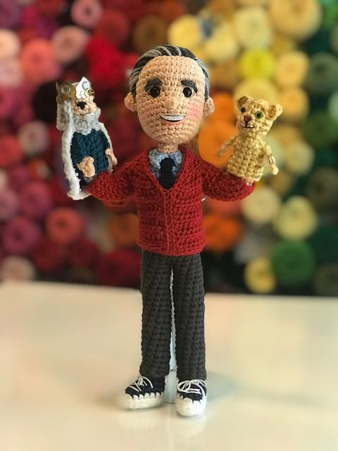 My Favorite Crochet Bear Fred Rogers Magic Attic Doll Daniel Tiger Mr Rogers
