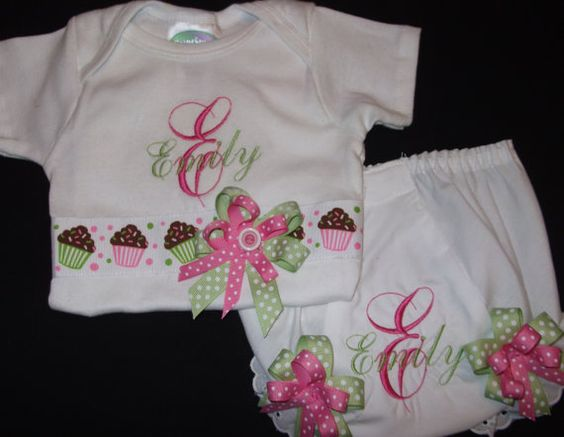 Personalized Bloomers and shirt to match by Birthdayshirtsanmore, $38.00