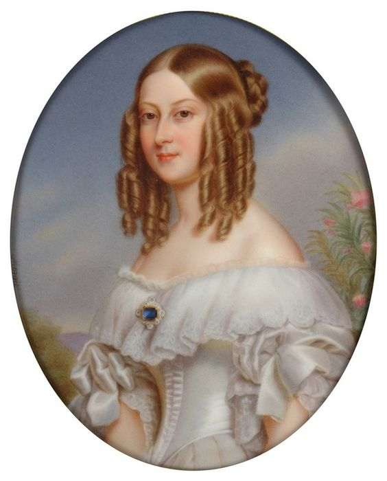 1840 Victoire de Nemours by François Aldophe Moriot after Winterhalter (Cyril Froissart) | Grand Ladies | gogm: