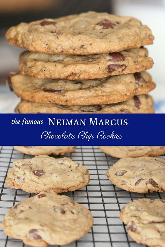 Neiman marcus, Chocolate chip cookies and Chip cookies on Pinterest