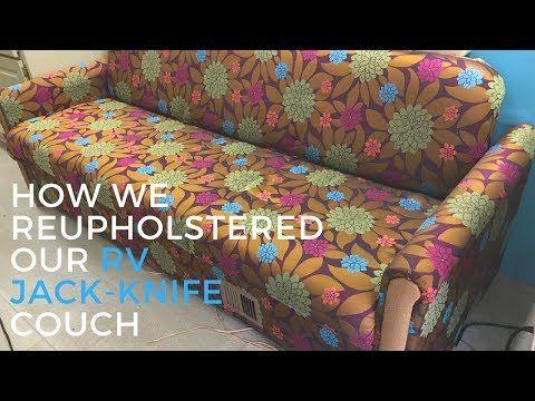How To Take Apart An Futon Rv Couch Rv Furniture Youtube Sofa