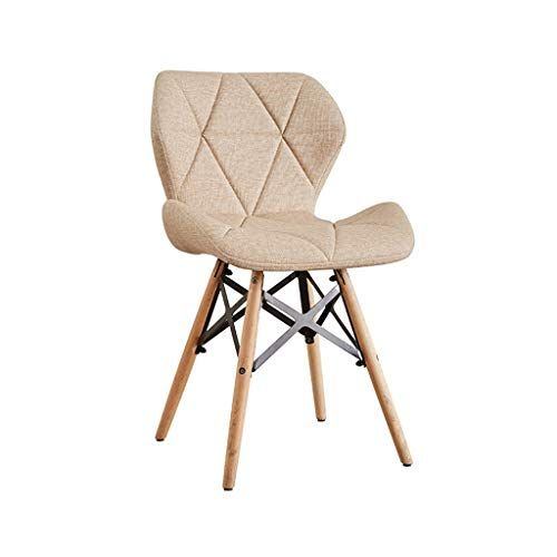 Dining Chairs Waterproof Leather Cushion Seat And Back With Wooden