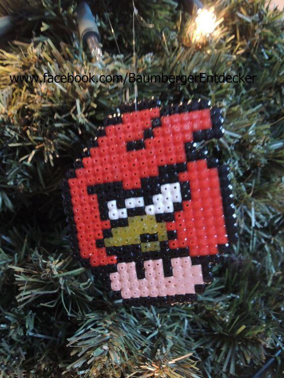 Angry Birds Mario Pilz aus Bügelperlen www.facebook.com/BaumbergerEntdecker