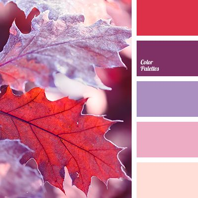 Red color palettes purple colors and blackberries on - Matching colours with peach ...
