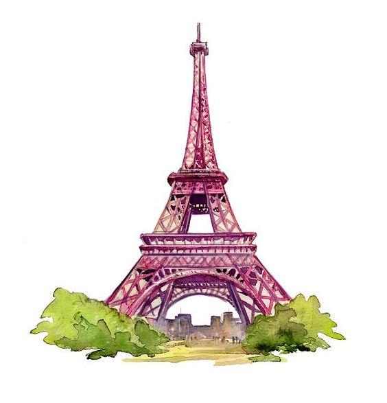 eiffel tower paris eiffel tower watercolor by