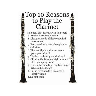 top 10 reasons to play the clarinet!(:
