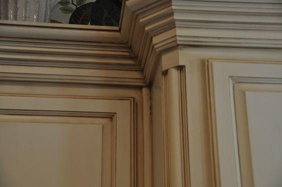 Cream glazed cabinets kitchen ideas pinterest cream and cabinets - Cream glazed kitchen cabinets pictures ...